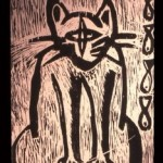 The Cat - Woodcut 1997